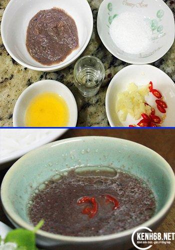 cách làm bún đậu mắm tôm - pha mắm tôm