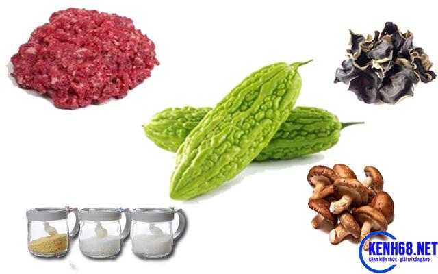 Cần chuẩn bị những nguyên liệu để thực hiện cách làm mướp đắng nhồi thịt