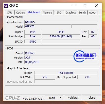 cách kiểm tra cấu hình máy tính bằng phần mềm cpuz 03
