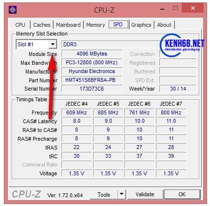 cách kiểm tra cấu hình máy tính bằng phần mềm cpuz 05