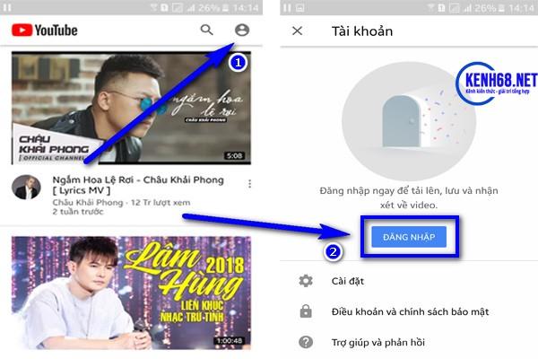 cách tải video trên youtube về điện thoại trực tiếp trên app youtube 01