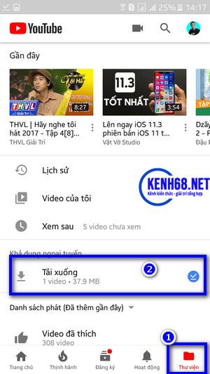 cách tải video trên youtube về điện thoại trực tiếp trên app youtube 04