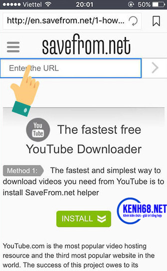 cách tải video trên youtube về điện thoại iphone bằng công cụ online 07