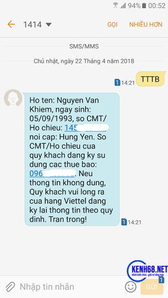 cách kiểm tra số điện thoại viettel qua tin nhắn
