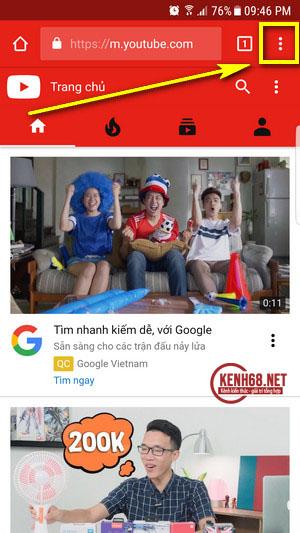 Cách nghe nhạc trên Youtube khi tắt màn hình điện thoại android 02