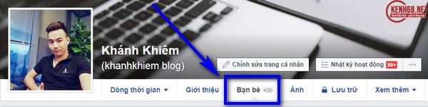 Cách ẩn danh sách bạn bè trên facebook bằng máy tính