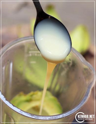 cách làm sinh tố bơ ngon tại nhà không bị đắng 04