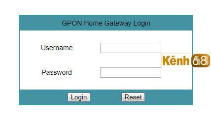 cách đổi mật khẩu wifi fpt - nhập thông tin tài khoản