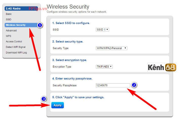Cách đổi mật khẩu wifi FPT trên modem wifiG-97RG3 mới nhất - cách đổi pass wifi fpt