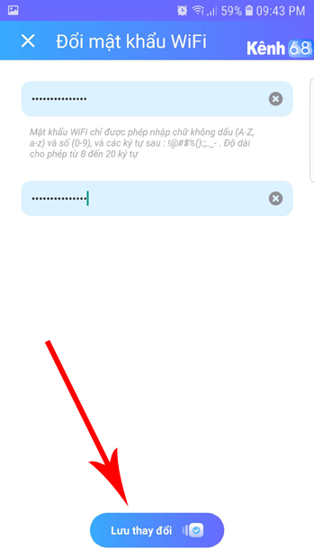 cách đổi pass wifi fpt trên điện thoại với ứng dụng Hi fpt 03