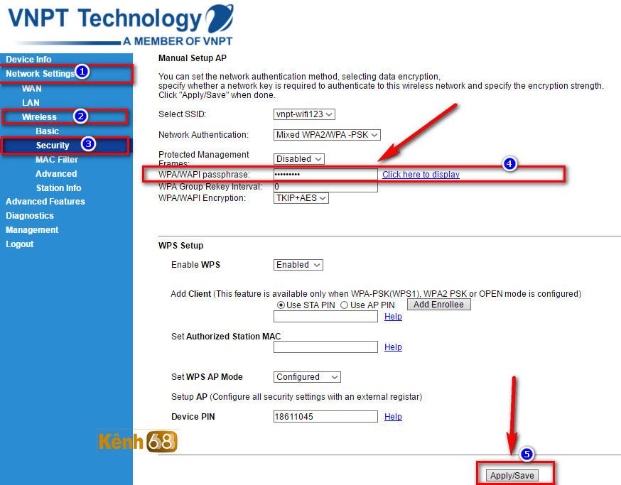 Hướng dẫn cách đổi mật khẩu wifi vnpt mới nhất