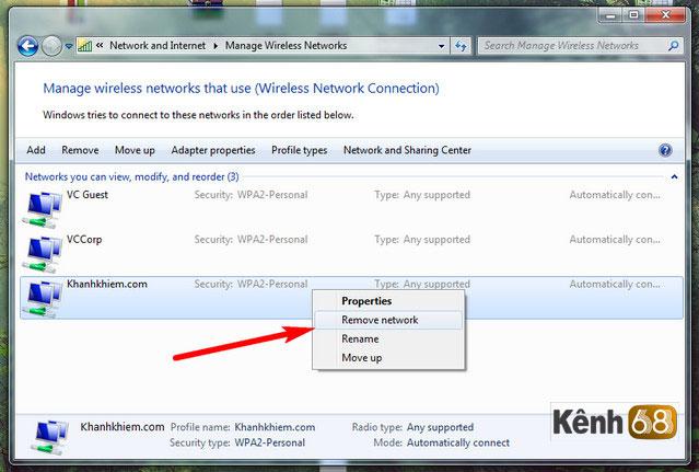 lỗi không kết nối được wifi sau khi đổi mật khẩu wifi - cách khắc phục