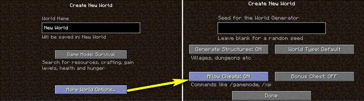 Cách nhập các lệnh trong Minecraft 01