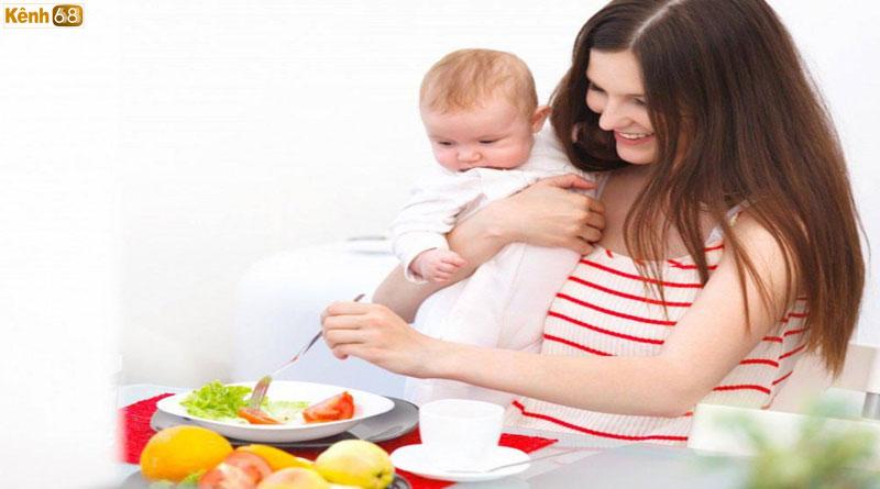 phụ nữ sau sinh nên ăn gì? thực phẩm lợi sữa