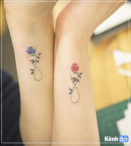 Hình xăm hoa hồng nhỏ 001