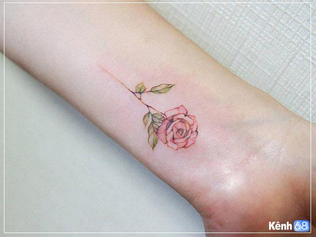 Hình xăm hoa hồng nhỏ 004