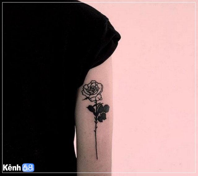 Hình xăm hoa hồng nhỏ 006