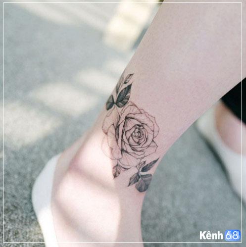 Hình xăm hoa hồng nhỏ 008