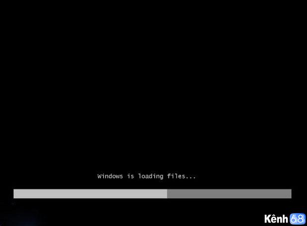 Cách cài win 7 bằng usb - màn hình cài đặt hiển thị