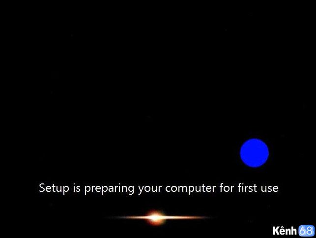 tiếp tục khởi động lại lần 2 sau khi cài đặt windows 7