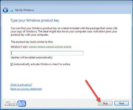 cách cài win 7 bằng usb - thiết lập active windows 7