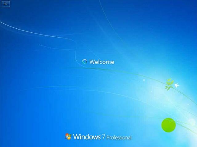 Hoàn tất quá trình cài đặt windows 7