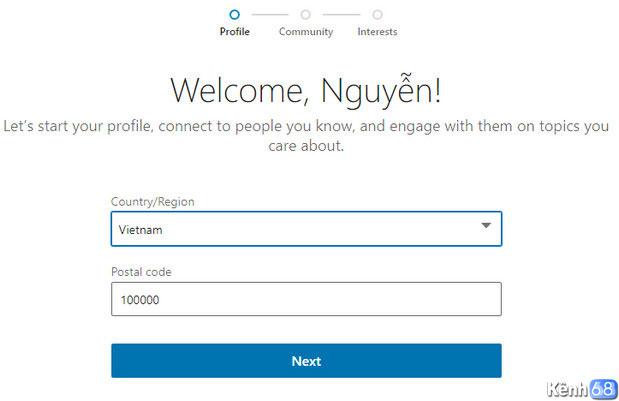 Hướng dẫn cách đăng ký linkedin - Tạo tài khoản linkedin 02