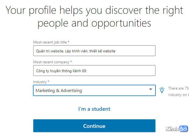 Hướng dẫn cách đăng ký linkedin - Tạo tài khoản linkedin 03