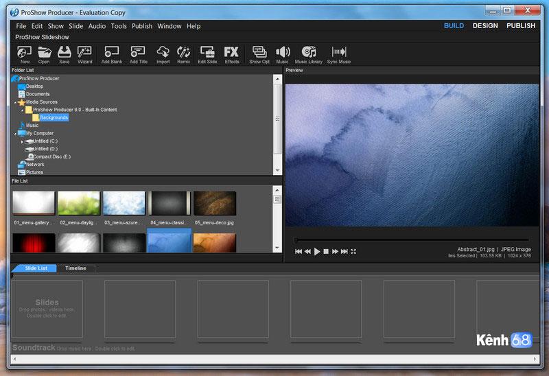 hướng dẫn sử dụng proshow producer để làm video 01