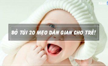20 mẹo dân gian cho trẻ sơ sinh