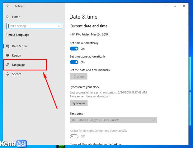 cách bật bộ gõ tiếng việt mặc định trên windows 10 may 2019 update 03