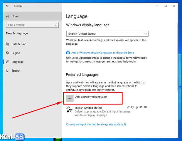 cách bật bộ gõ tiếng việt mặc định trên windows 10 may 2019 update 04
