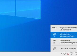cách bật bộ gõ tiếng việt trên windows 10 may 2019 update