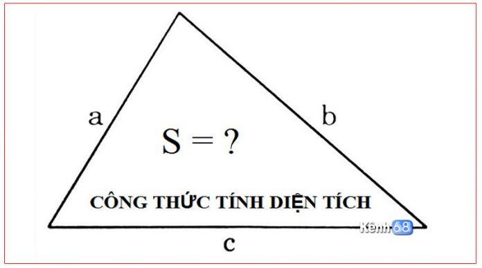 công thức tính diện tích tam giác 01