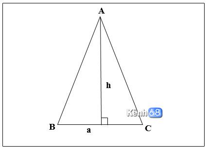 công thức tính diện tích tam giác cân