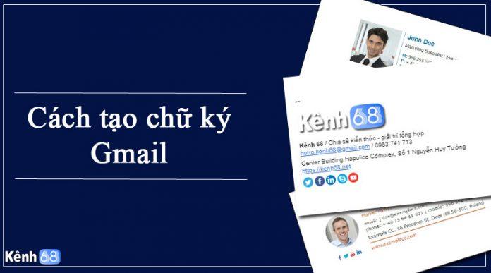 cách tạo chữ ký gmail chuyên nghiệp