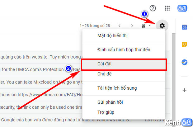 Cách tạo chữ ký Gmail bằng thiết lập trực tiếp trên Gmail 01