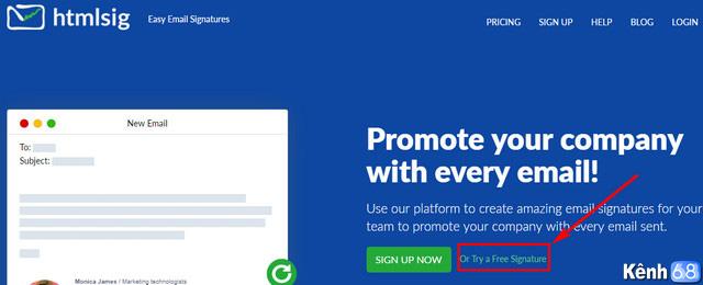 Cách tạo chữ ký Gmail chuyên nghiệp với htmlsig.com 001