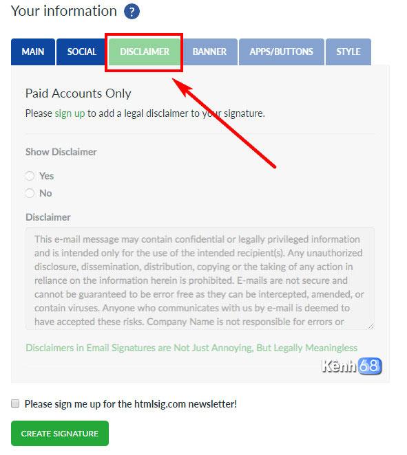 Cách tạo chữ ký Gmail chuyên nghiệp với htmlsig.com 004