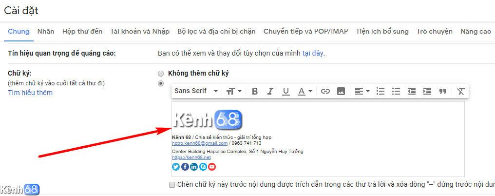 Cách tạo chữ ký Gmail chuyên nghiệp với htmlsig.com 010
