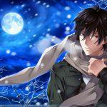 ảnh anime boy buồn dưới ánh trăng