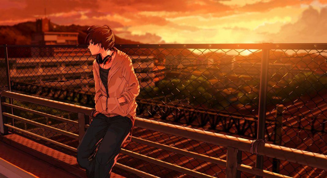 ảnh anime boy buồn một mình