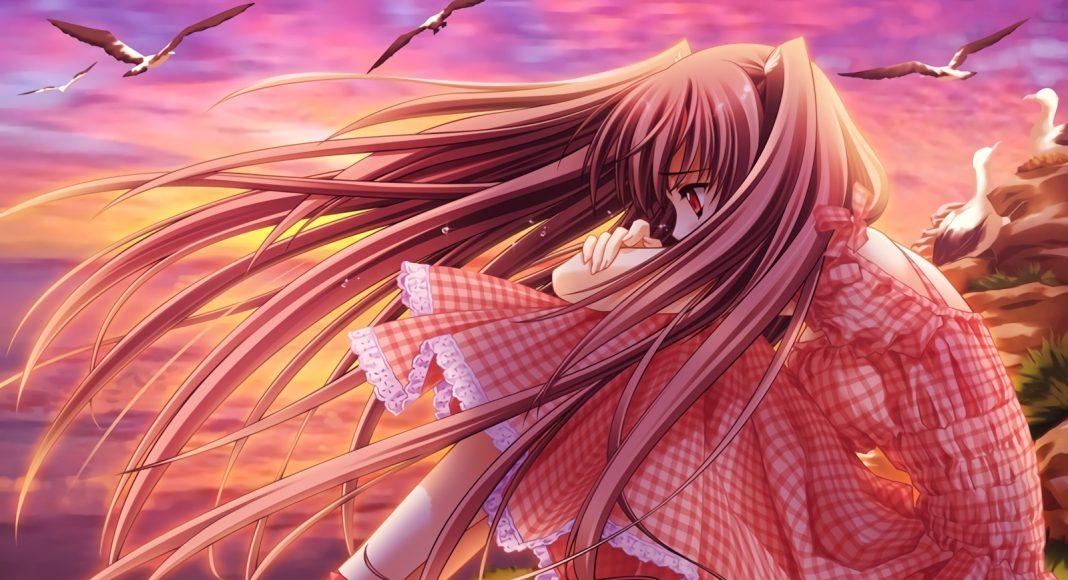 hình ảnh anime girl buồn, khóc một mình