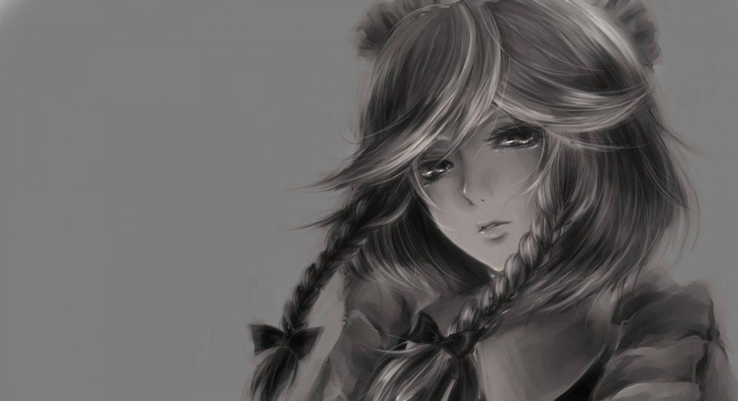 hình ảnh anime girl buồn, khóc 27