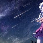 hình ảnh anime girl buồn và mưa sao băng