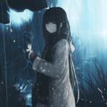 hình ảnh anime girl buồn chất