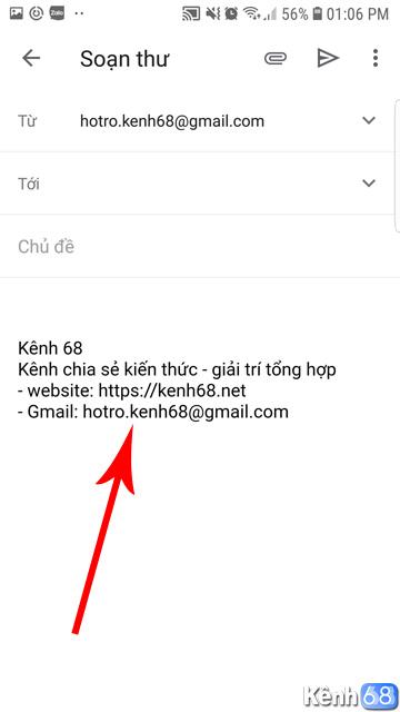 Cách tạo chữ ký Gmail trên điện thoại 05