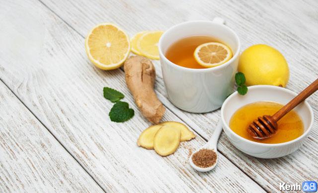 Cách giải rượu bằng gừng + mật ong + chanh