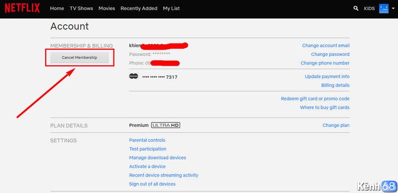 cách hủy dịch vụ netflix sau 30 ngày dùng thử miễn phí 002
