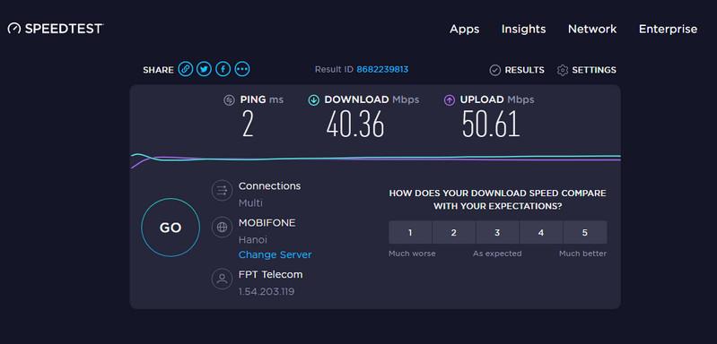 cách kiểm tra tốc độ internet bằng Speedtest